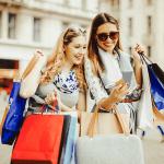 estudiantes al ir de compras